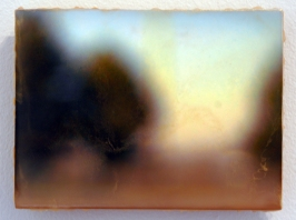 Illumine no. 11, Photo Encaustic on Poplar, 6 x 8 inches, 2006.