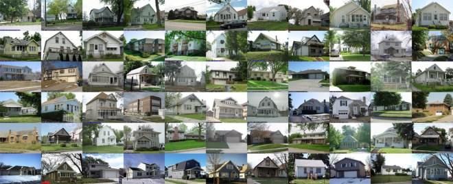 2415 My American Dream (Every house with my address Douglas and Pottawattamie County) 34 x 16 inches, Archival Digital Print. 2010.